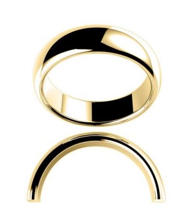 Rings - Ladies 6mm High Dome Full Weight Band 18Kt Yellow Gold