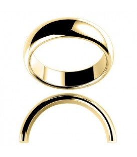 Ladies 6mm High Dome Full Weight Band 18Kt Yellow Gold