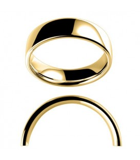 Ladies 6mm Low Dome Full Weight Band 18Kt Yellow Gold
