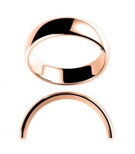 Ladies 6mm High Dome Medium Weight Band 18Kt Rose Gold