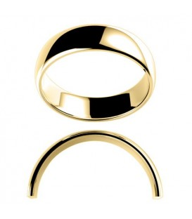 Men's 6mm High Dome Medium Weight Band 18Kt Yellow Gold