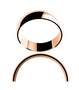 Ladies 6mm High Dome Light Weight Band 18Kt Rose Gold