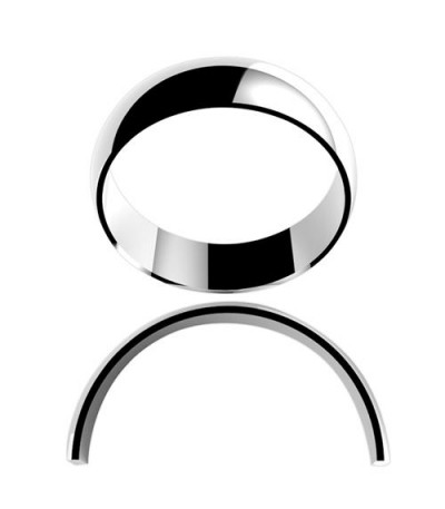 Rings - Ladies 6mm High Dome Light Weight Band 18Kt White Gold
