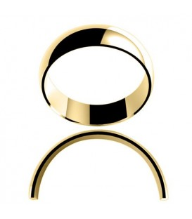 Ladies 6mm High Dome Light Weight Band 18Kt Yellow Gold