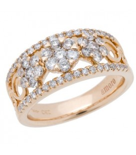 Rings - 0.99 Carat Round Brilliant Diamond Ring 14Kt Yellow Gold