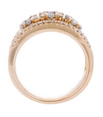0.99 Carat Round Brilliant Diamond Ring 14Kt Yellow Gold