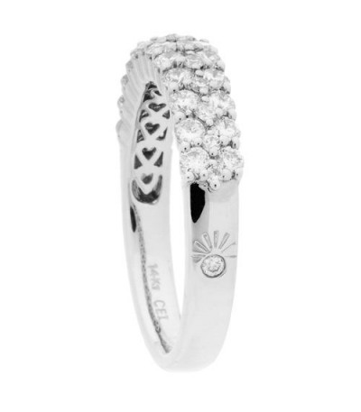 0.99 Carat Round Brilliant Diamond Ring 14Kt White Gold