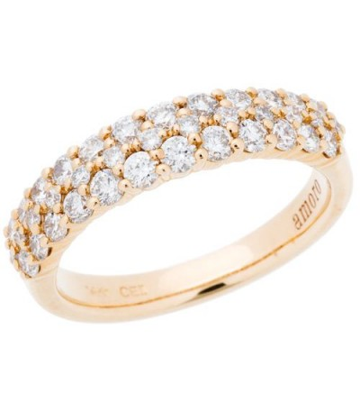 Rings - 0.98 Carat Round Brilliant Diamond Ring 14Kt Yellow Gold