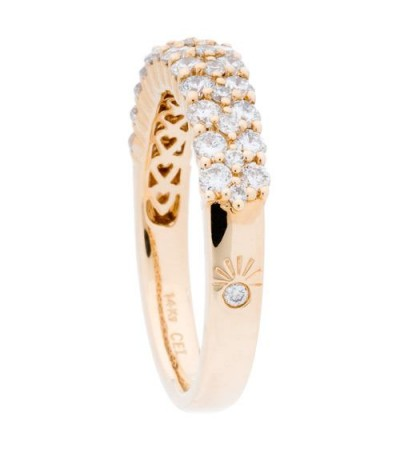 0.98 Carat Round Brilliant Diamond Ring 14Kt Yellow Gold