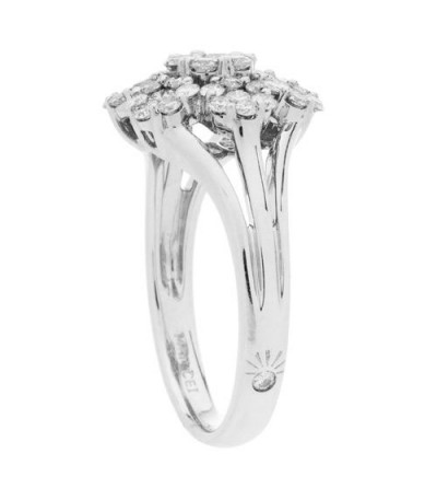 0.98 Carat Round Brilliant Diamond Ring 14Kt White Gold