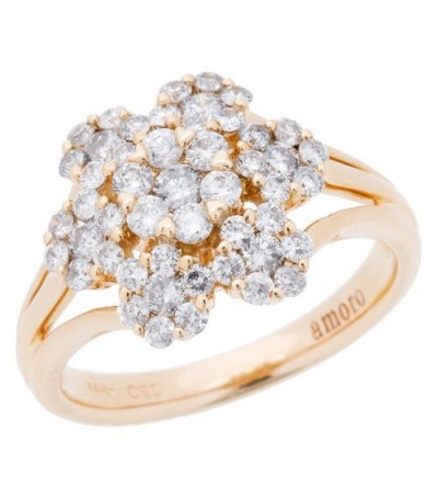Rings - 1.02 Carat Round Brilliant Diamond Ring 14Kt Yellow Gold