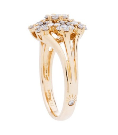 1.02 Carat Round Brilliant Diamond Ring 14Kt Yellow Gold