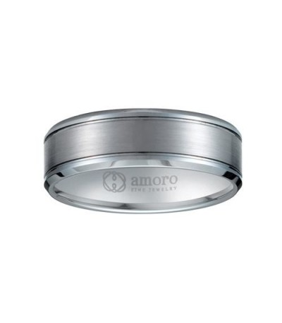 Rings - Brushed Tungsten Wedding Band