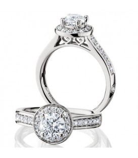 More about 1.03 Carat Round Brilliant Eternitymark Diamond Ring 18Kt White Gold