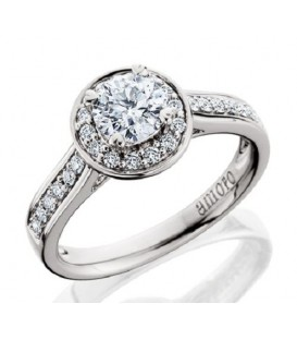 1.15 Carat Round Brilliant Eternitymark Diamond Ring Bridal Set 18Kt White Gold