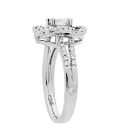 0.86 Carat Round Brilliant Eternitymark Diamond Ring 18Kt White Gold