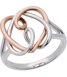 Rings - 18Kt Rose and White Gold Amoro Ring