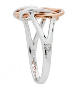 18Kt Rose and White Gold Amoro Ring