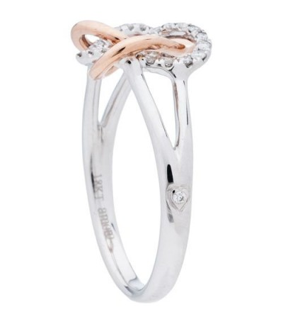 0.19 Carat Diamond Ring 18Kt Rose and White Gold