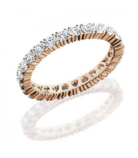 Rings - 1.43 Carat Round Brilliant Diamond Eternity Band 14Kt Rose Gold
