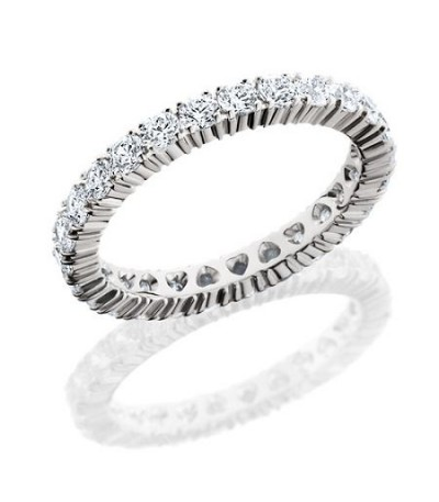 Rings - 1.43 Carat Round Brilliant Diamond Eternity Band 18Kt White Gold