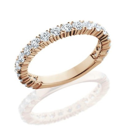 Rings - 1.10 Carat Round Brilliant Diamond Eternity Band 14Kt Rose Gold