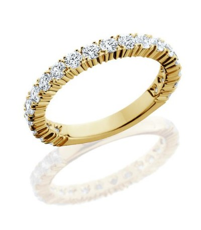 Rings - 1.10 Carat Round Brilliant Diamond Eternity Band 18Kt Yellow Gold
