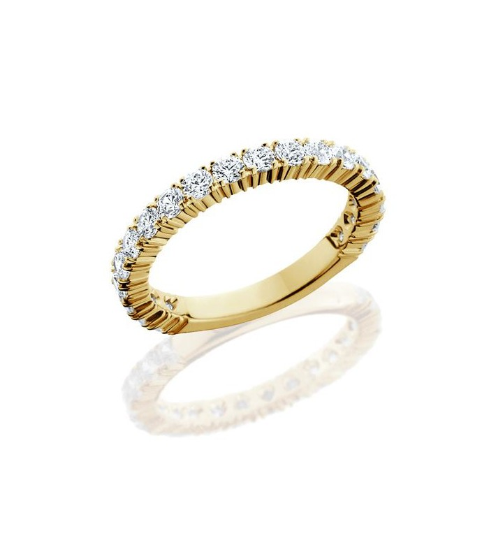 Round Brilliant 1 10ct Diamond Eternity Ring 18kt Yellow