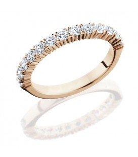 Rings - 0.72 Carat Round Brilliant Diamond Eternity Band 14Kt Rose Gold