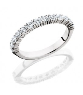 More about 0.72 Carat Round Brilliant Diamond Eternity Ring 18Kt White Gold