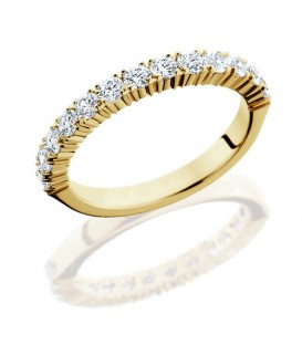 Rings - 0.72 Carat Round Brilliant Diamond Eternity Band 18Kt Yellow Gold