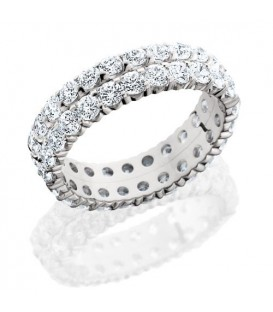 Rings - 2.86 Carat Round Brilliant Diamond Eternity Band 18Kt White Gold