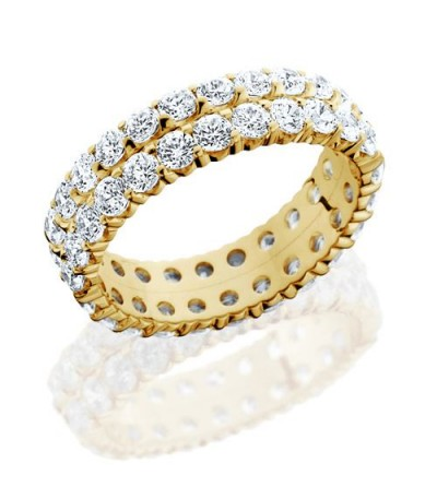 Rings - 2.86 Carat Round Brilliant Diamond Eternity Band 18Kt Yellow Gold