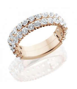 Rings - 2.20 Carat Round Brilliant Diamond Eternity Band 14Kt Rose Gold