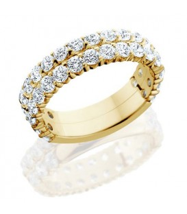 Rings - 2.20 Carat Round Brilliant Diamond Eternity Band 18Kt Yellow Gold