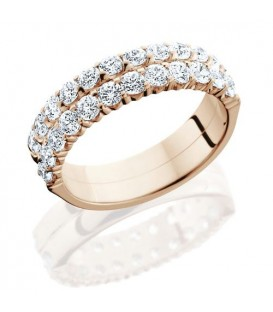 More about 1.43 Carat Round Brilliant Diamond Eternity Ring 14Kt Rose Gold
