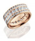 3.24 Carat Round Brilliant Diamond Eternity Ring 18Kt Rose Gold