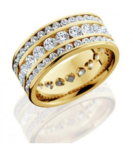 More about 3.24 Carat Round Brilliant Diamond Eternity Ring 18Kt Yellow Gold