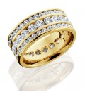 3.24 Carat Round Brilliant Diamond Eternity Ring 18Kt Yellow Gold