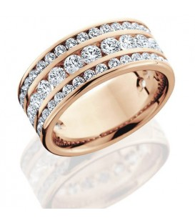 More about 2.40 Carat Round Brilliant Diamond Eternity Ring 18Kt Rose Gold
