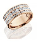 2.40 Carat Round Brilliant Diamond Eternity Ring 18Kt Rose Gold