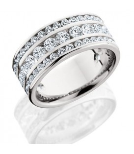 More about 2.40 Carat Round Brilliant Diamond Eternity Ring 18Kt White Gold