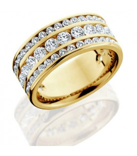2.40 Carat Round Brilliant Diamond Eternity Ring 18Kt Yellow Gold