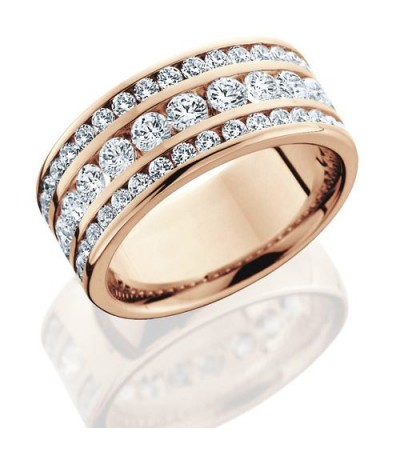 Rings - 1.72 Carat Round Brilliant Diamond Eternity Band 18Kt Rose Gold
