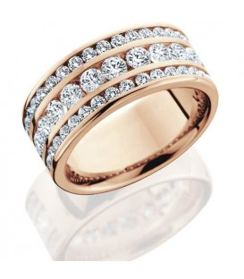 1.72 Carat Round Brilliant Diamond Eternity Ring 18Kt Rose Gold
