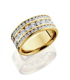 1.72 Carat Round Brilliant Diamond Eternity Ring 18Kt Yellow Gold