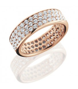 1.98 Carat Round Brilliant Diamond Eternity Ring 18Kt Rose Gold