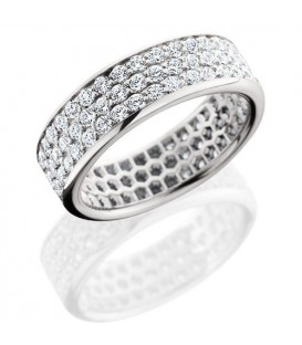 Rings - 1.98 Carat Round Brilliant Diamond Eternity Band 18Kt White Gold