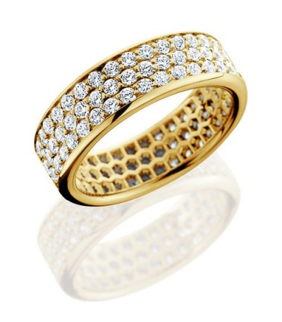 Rings - 1.98 Carat Round Brilliant Diamond Eternity Band 18Kt Yellow Gold
