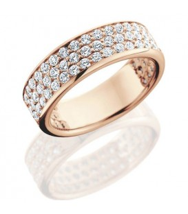 1.50 Carat Round Brilliant Diamond Eternity Ring 18Kt Rose Gold